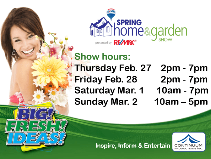 Hamilton Spring Home & Garden Show February 27th to March 2nd 2014